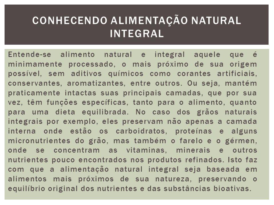 Conhecendo alimentação natural integral