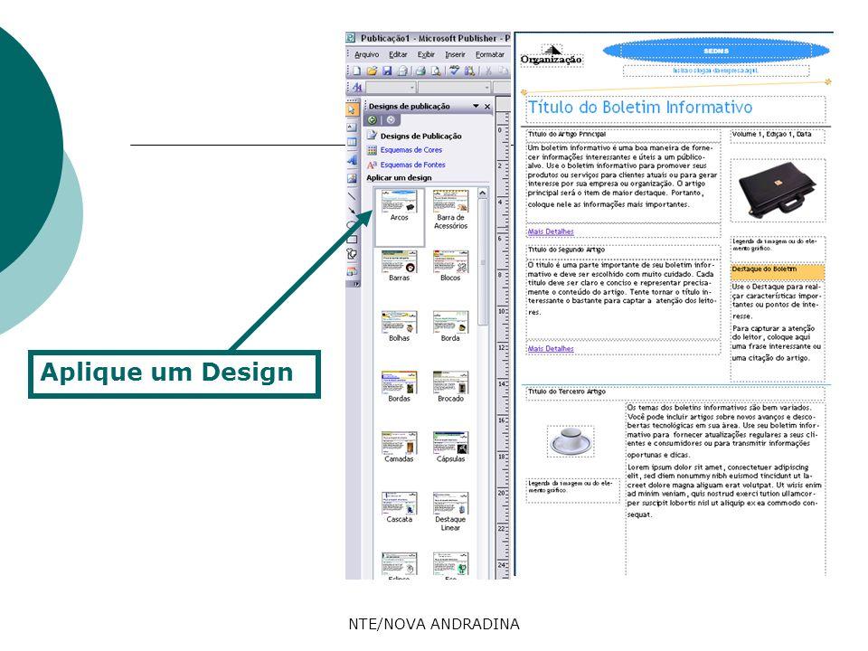 Aplique um Design NTE/NOVA ANDRADINA