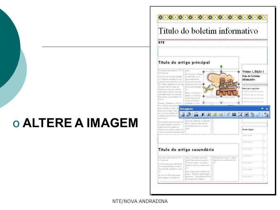 ALTERE A IMAGEM NTE/NOVA ANDRADINA