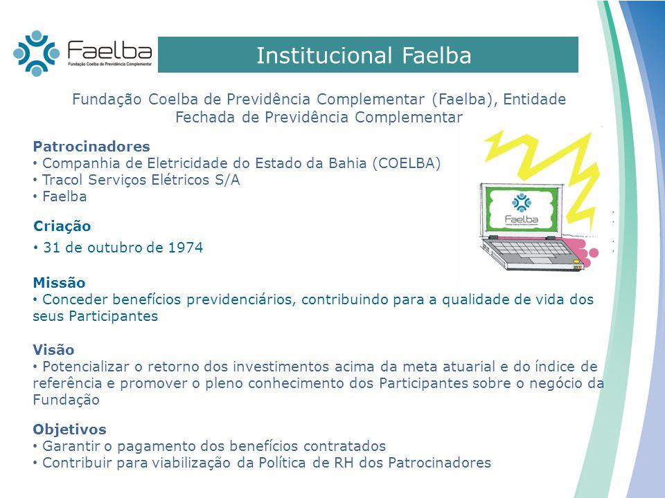 Institucional Faelba Fundação Coelba de Previdência Complementar (Faelba), Entidade Fechada de Previdência Complementar.
