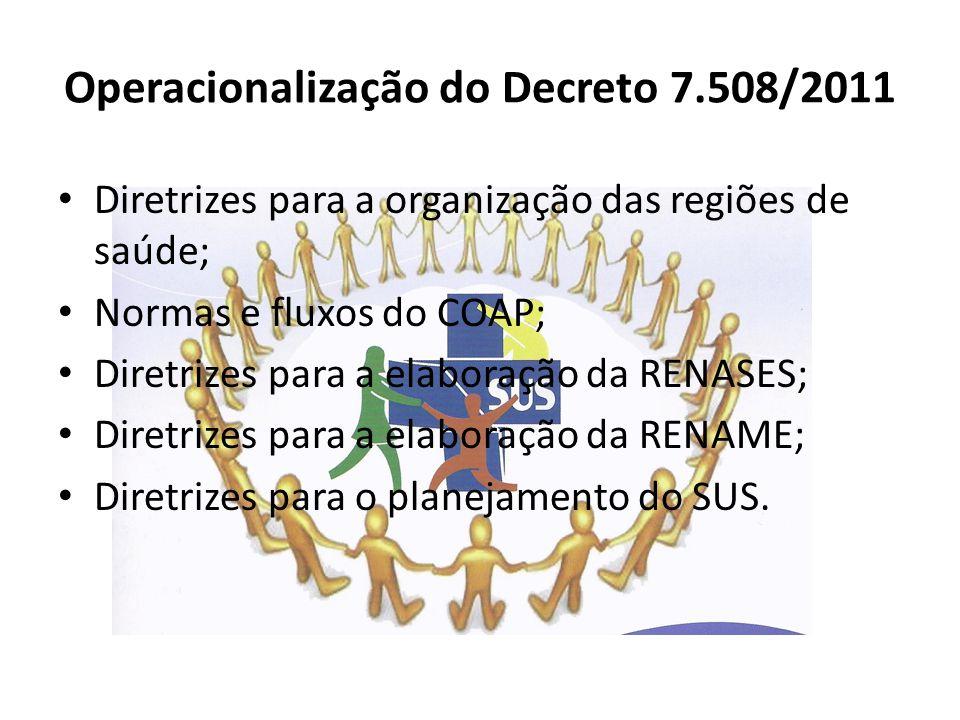 Operacionalização do Decreto 7.508/2011