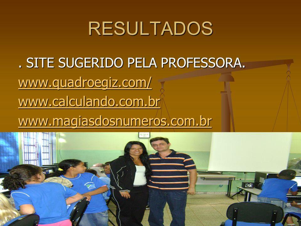 RESULTADOS . SITE SUGERIDO PELA PROFESSORA. www.quadroegiz.com/