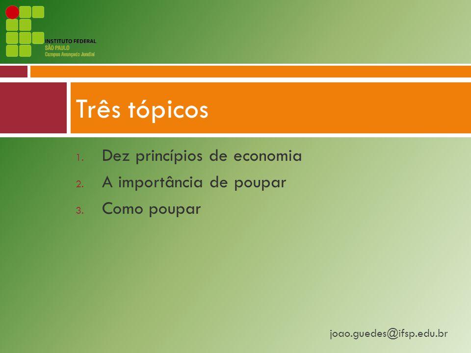 Três tópicos Dez princípios de economia A importância de poupar