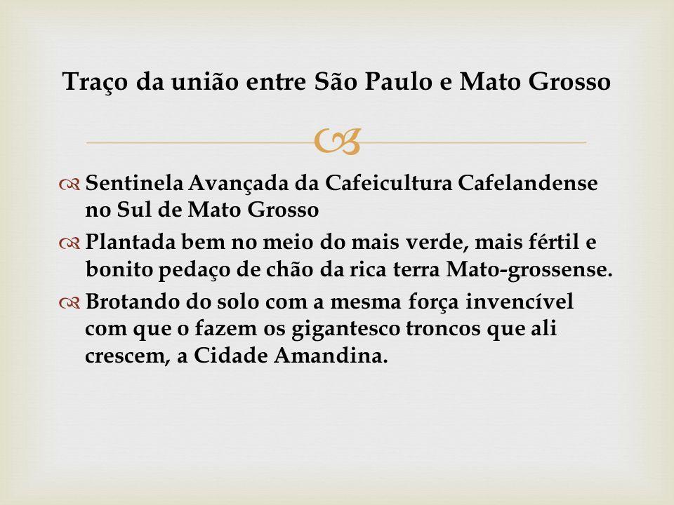 Traço da união entre São Paulo e Mato Grosso