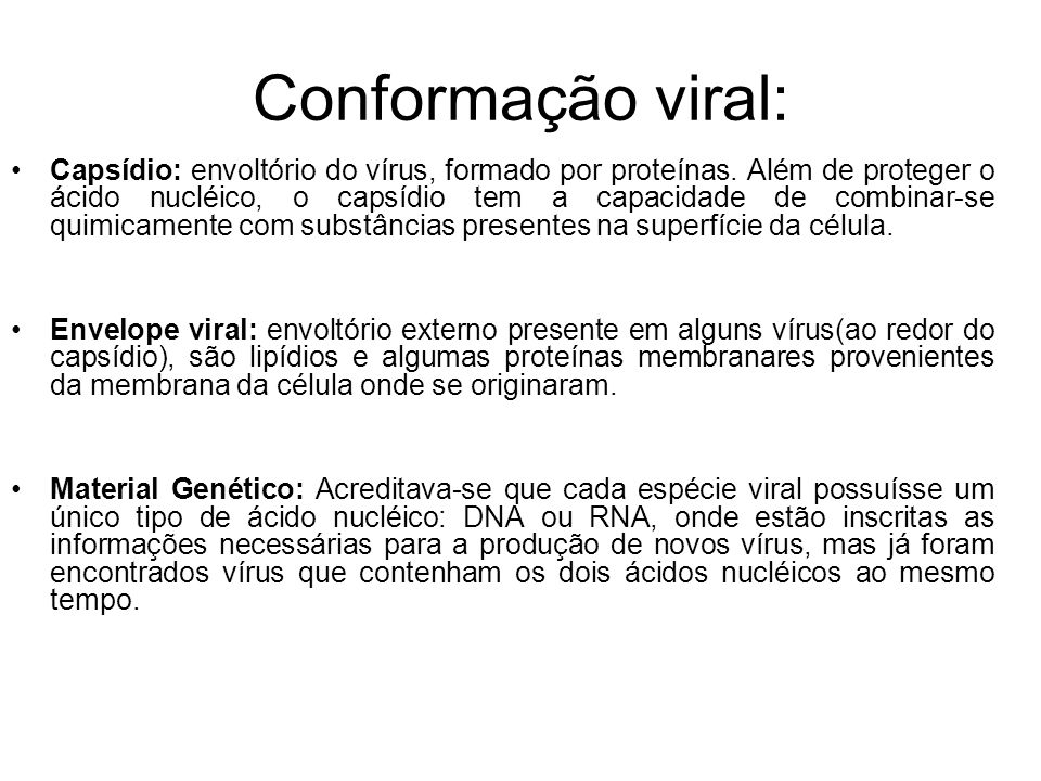 Conformação viral: