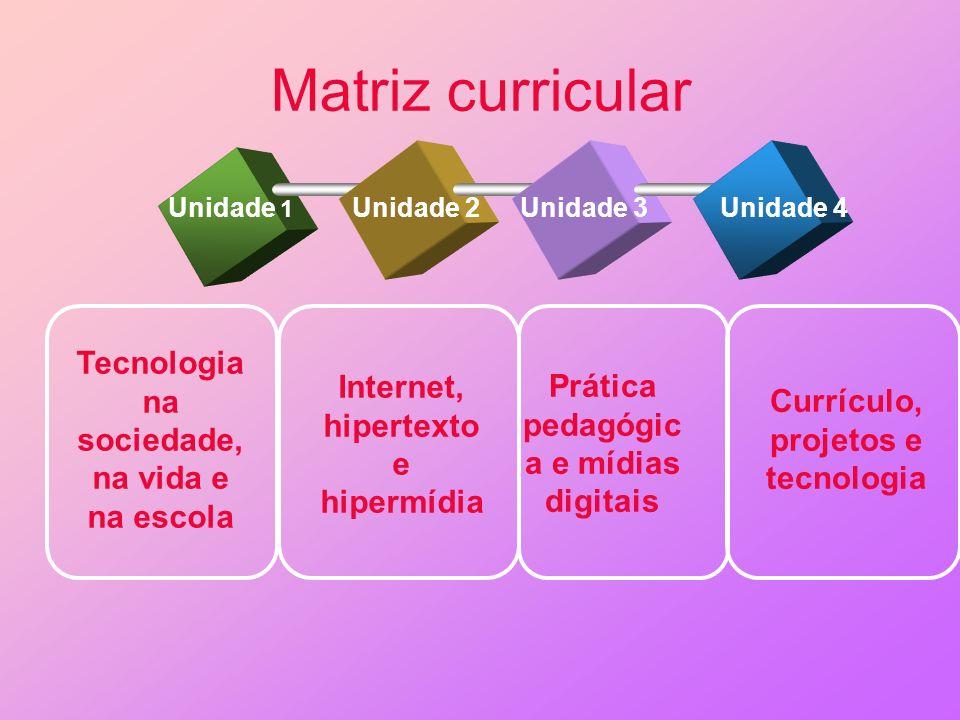 Matriz curricular Tecnologia na sociedade, na vida e na escola