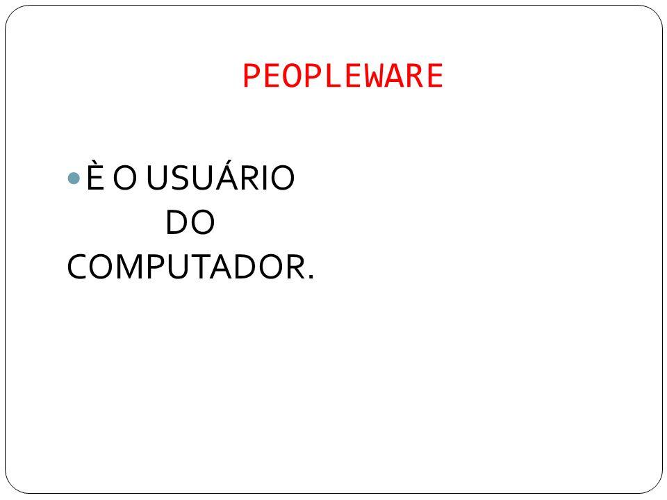 È O USUÁRIO DO COMPUTADOR.