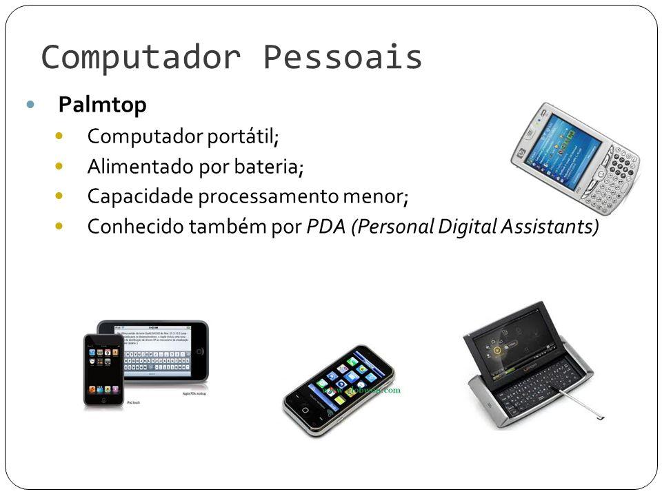 Computador Pessoais Palmtop Computador portátil;