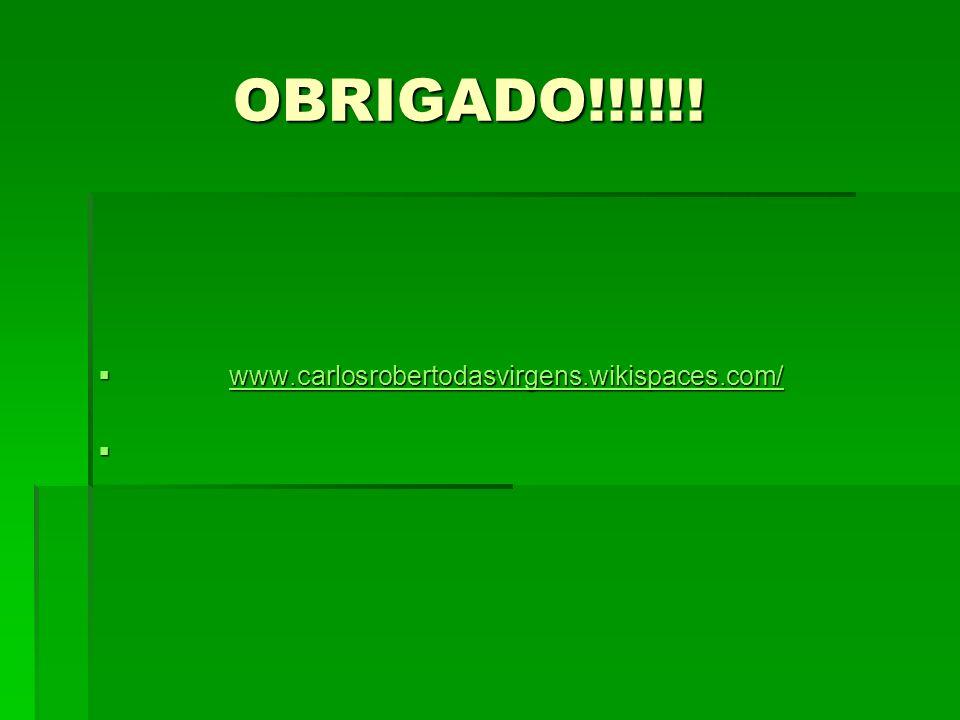 OBRIGADO!!!!!! www.carlosrobertodasvirgens.wikispaces.com/