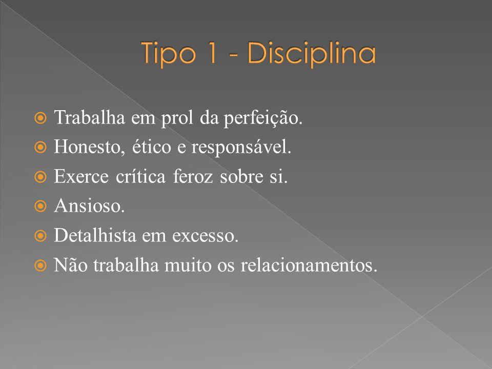 Tipo 1 - Disciplina Trabalha em prol da perfeição.