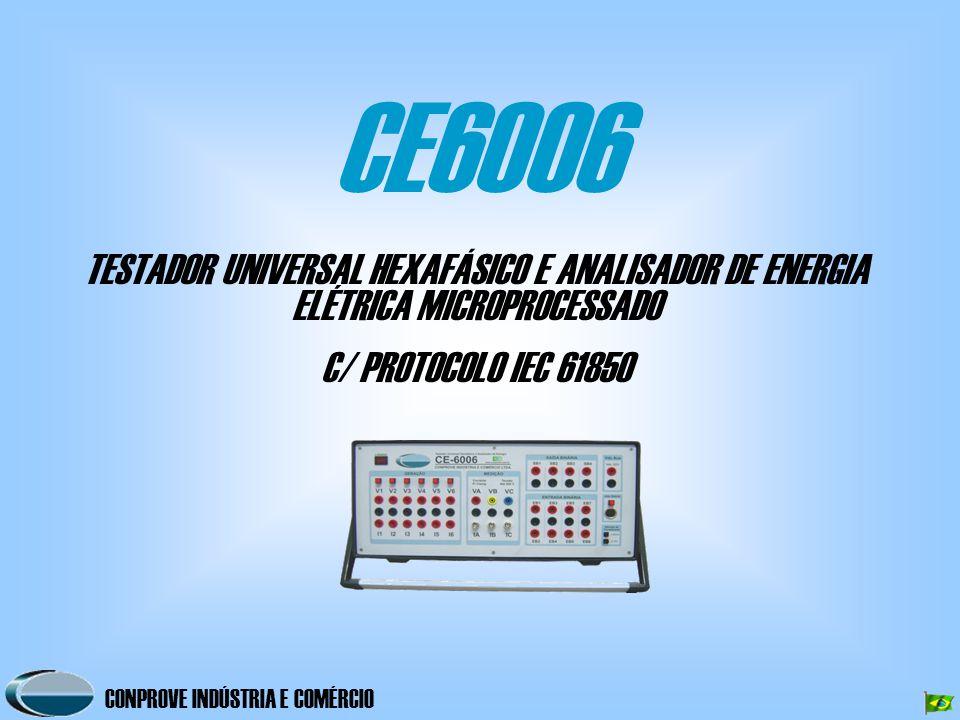 CE6006 TESTADOR UNIVERSAL HEXAFÁSICO E ANALISADOR DE ENERGIA ELÉTRICA MICROPROCESSADO.