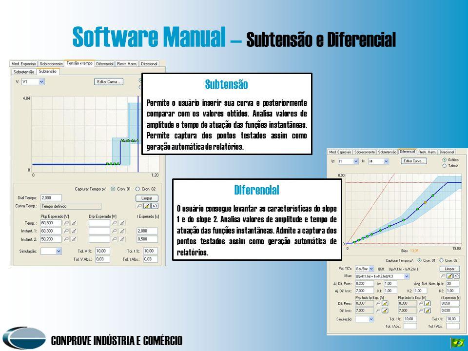 Software Manual – Subtensão e Diferencial