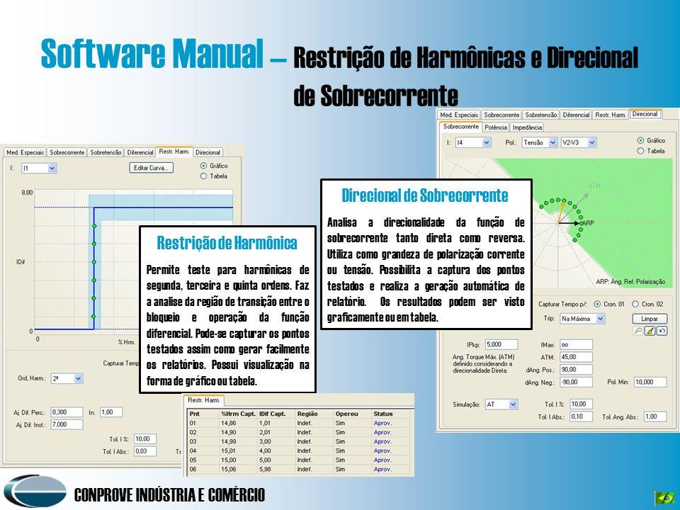 Software Manual – Restrição de Harmônicas e Direcional