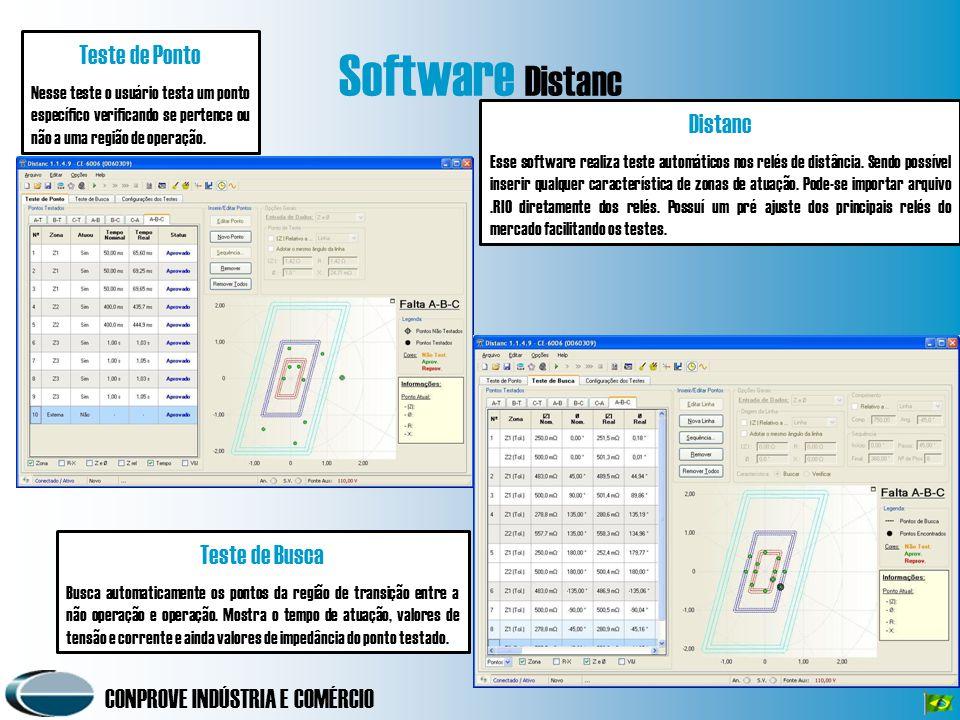 Software Distanc Teste de Ponto Distanc Teste de Busca