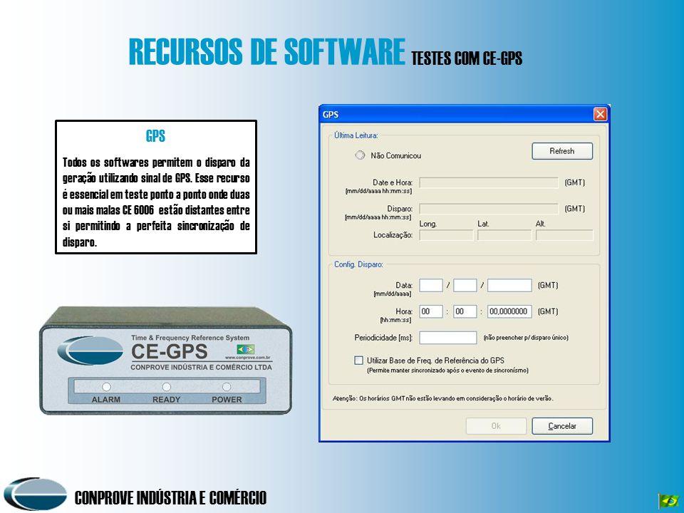 RECURSOS DE SOFTWARE TESTES COM CE-GPS