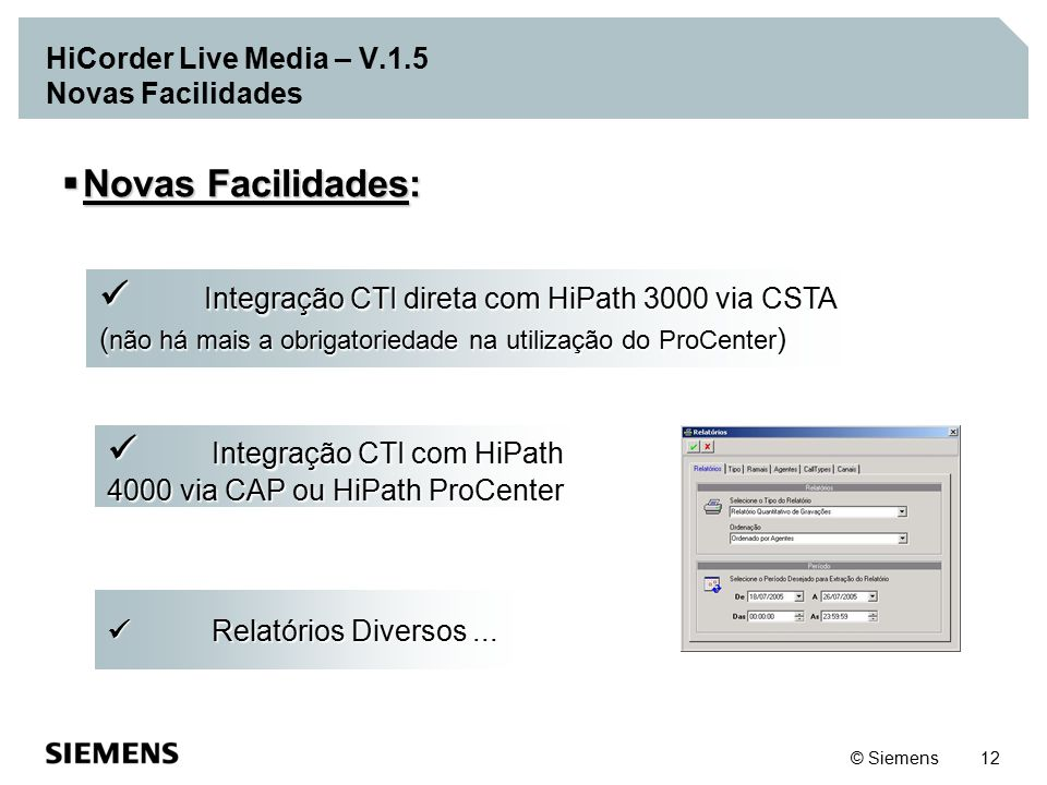 HiCorder Live Media – V.1.5 Novas Facilidades