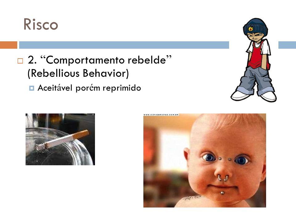Risco 2. Comportamento rebelde (Rebellious Behavior)