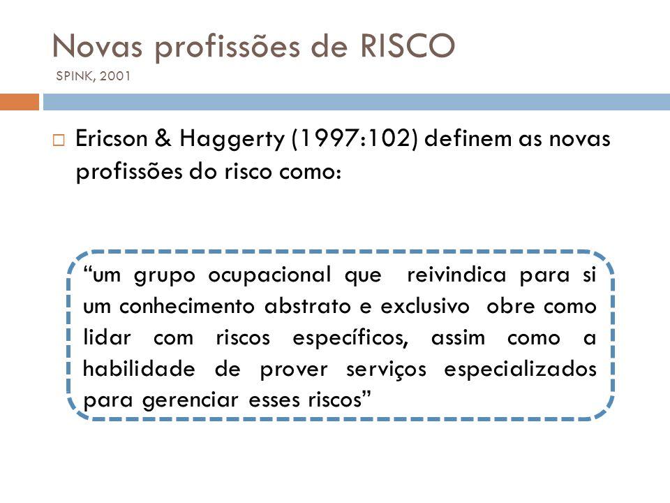 Novas profissões de RISCO SPINK, 2001