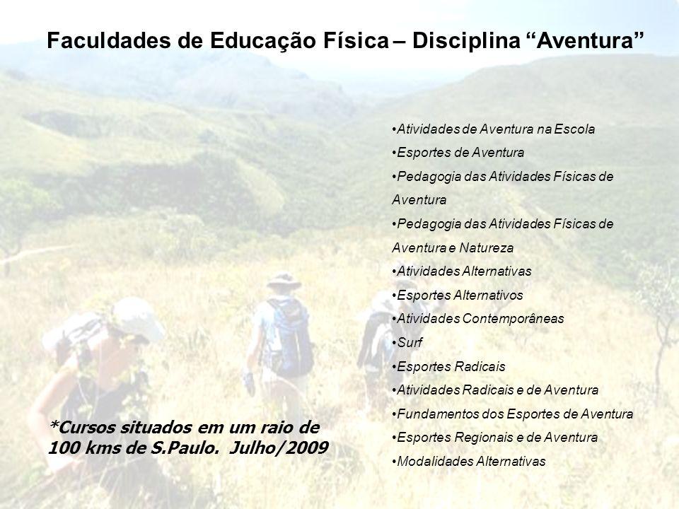 Faculdades de Educação Física – Disciplina Aventura