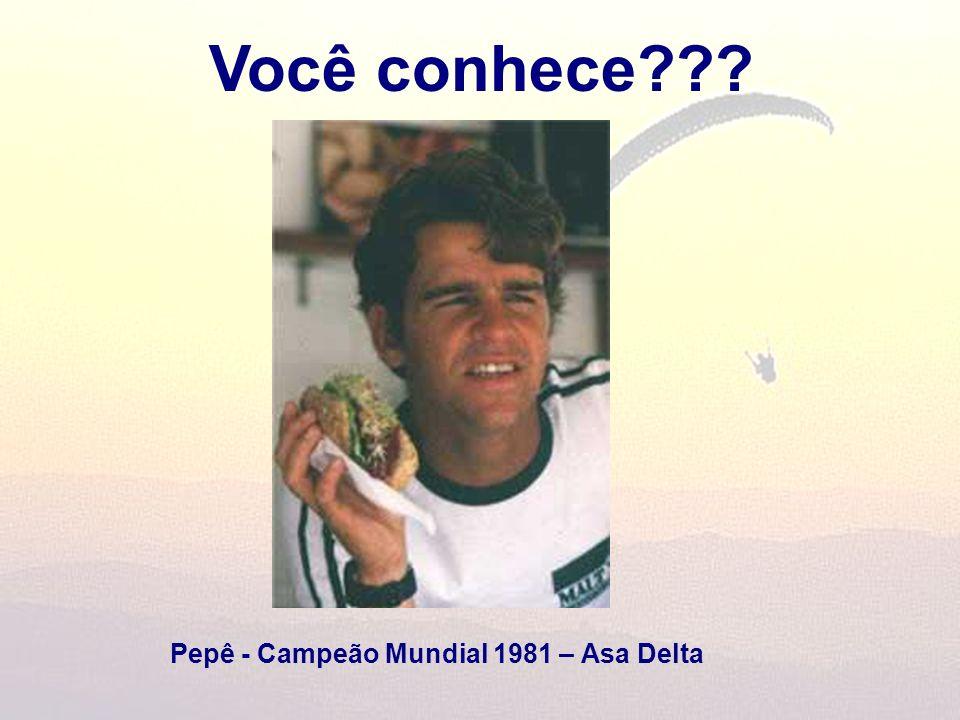 Você conhece Pepê - Campeão Mundial 1981 – Asa Delta
