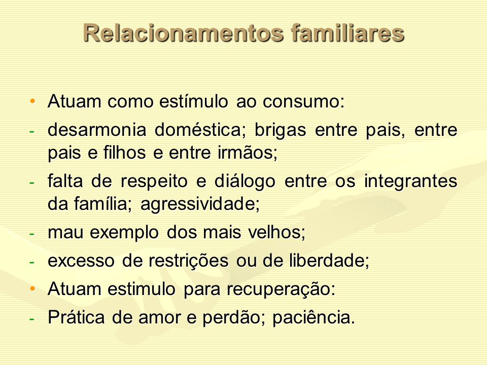 Relacionamentos familiares