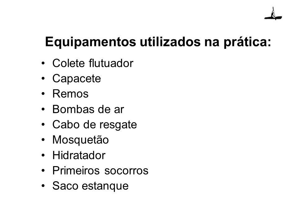 Equipamentos utilizados na prática: