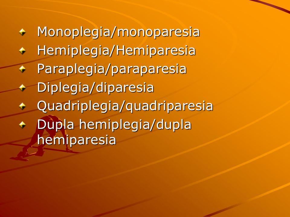 Monoplegia/monoparesia