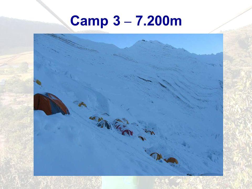 Camp 3 – 7.200m