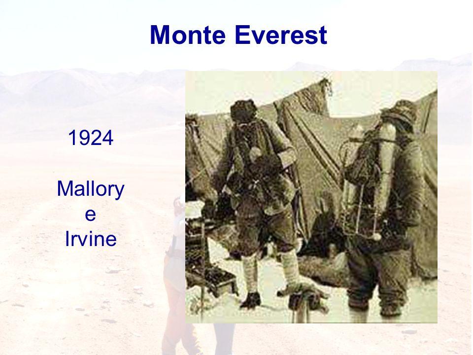Monte Everest 1924 Mallory e Irvine