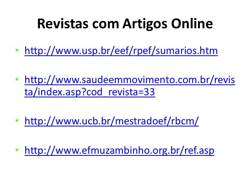 Revistas com Artigos Online