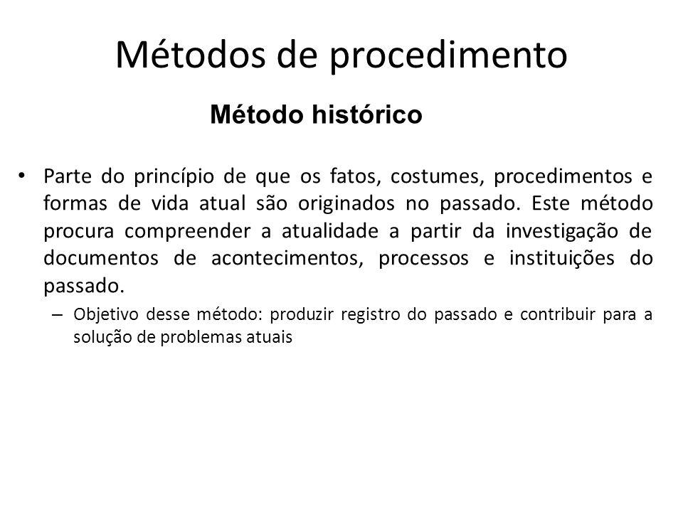 Métodos de procedimento
