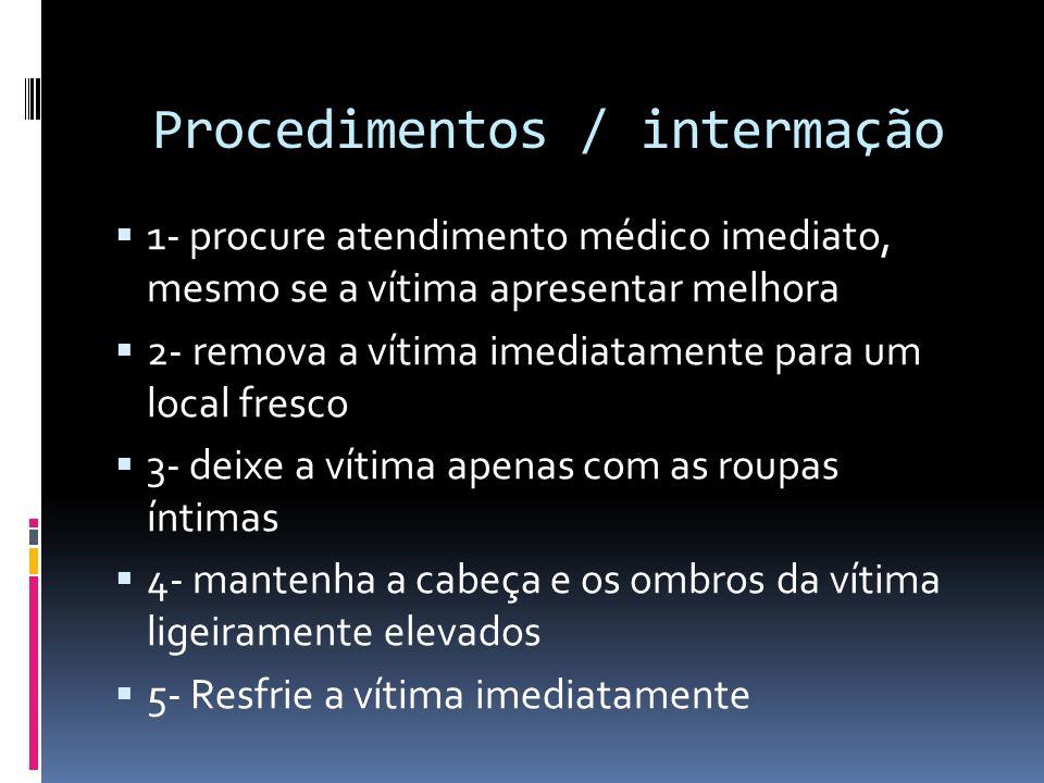 Procedimentos / intermação