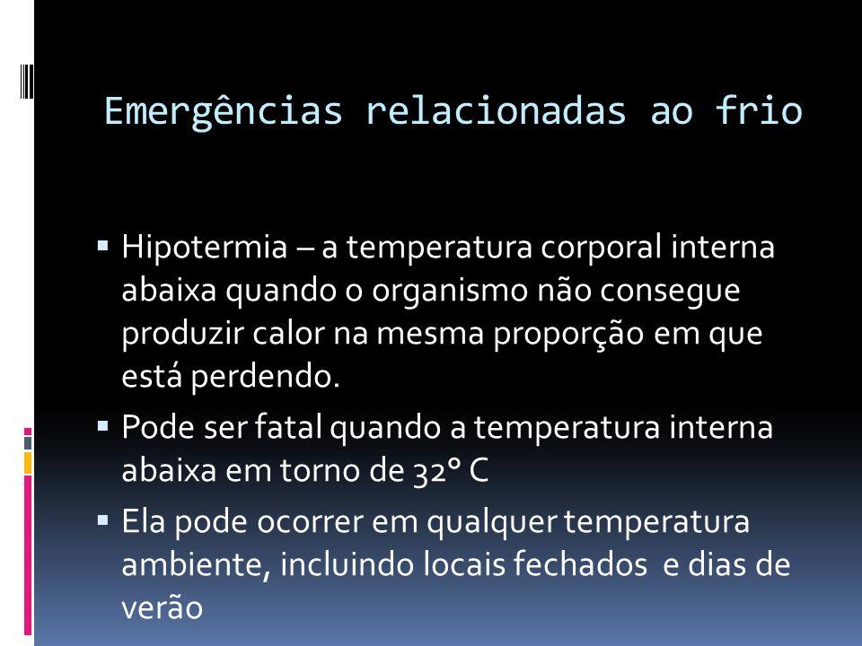 Emergências relacionadas ao frio