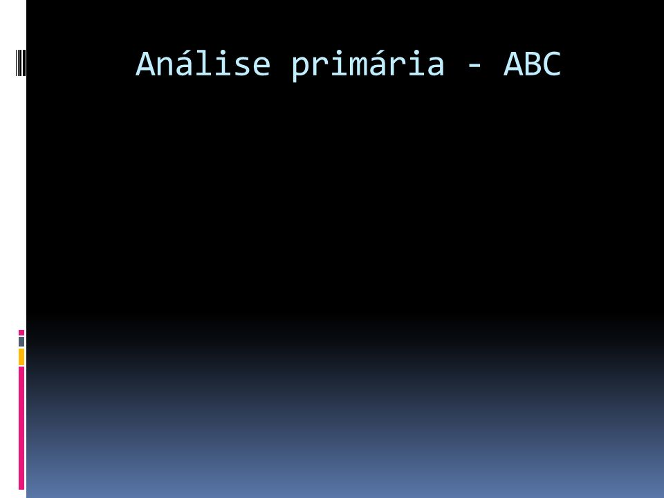 Análise primária - ABC