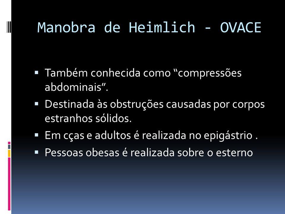 Manobra de Heimlich - OVACE