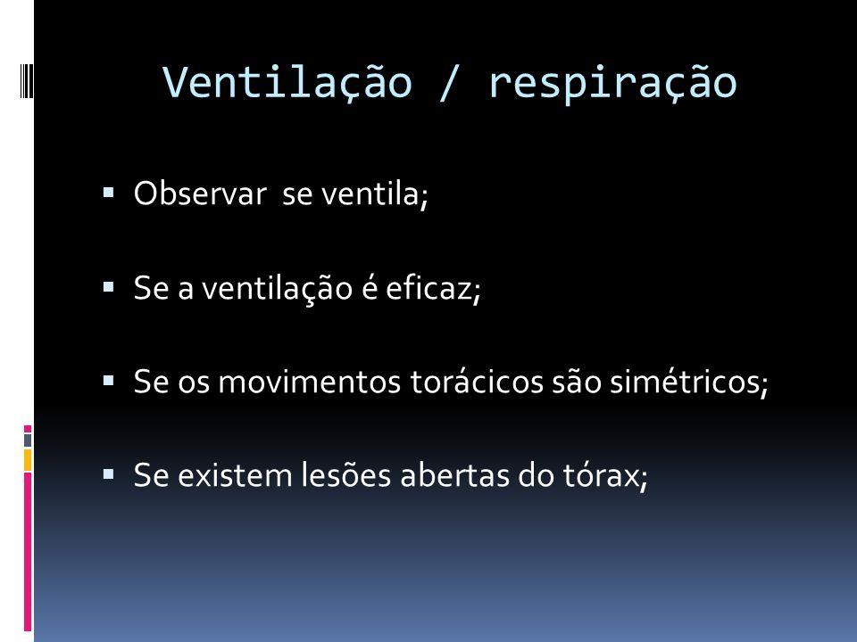 Ventilação / respiração