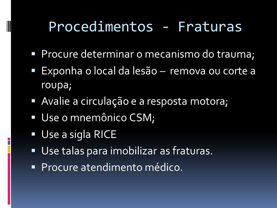 Procedimentos - Fraturas