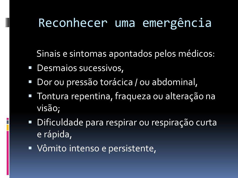 Reconhecer uma emergência