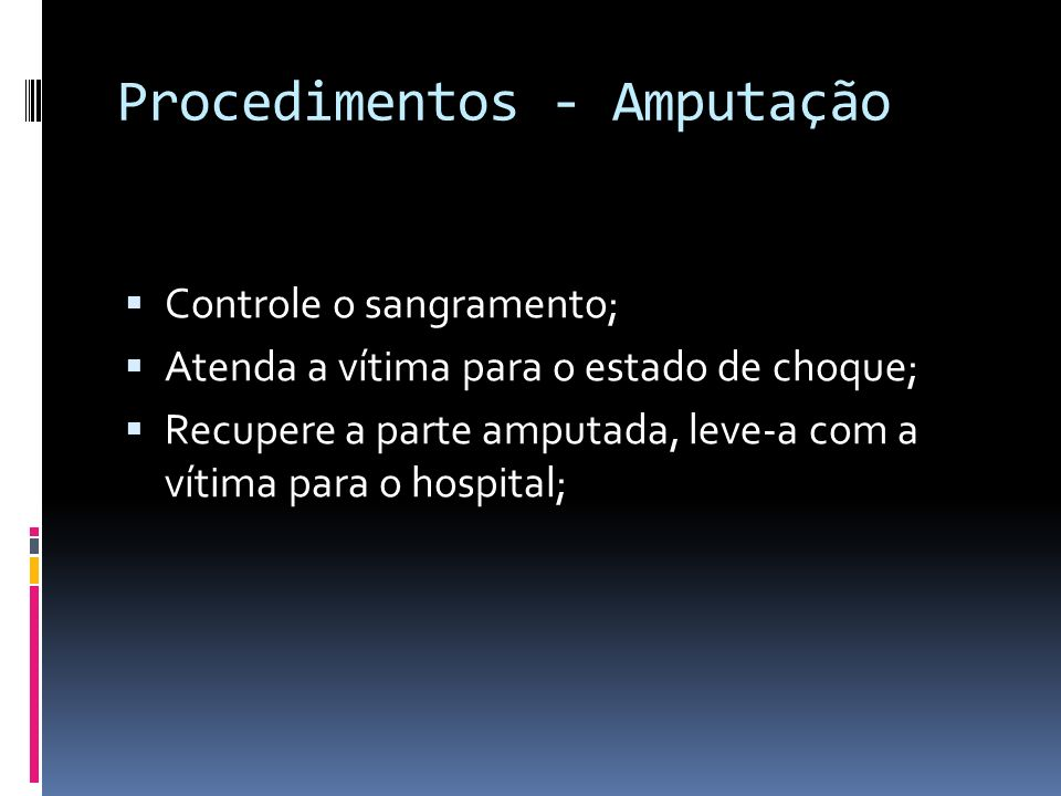 Procedimentos - Amputação
