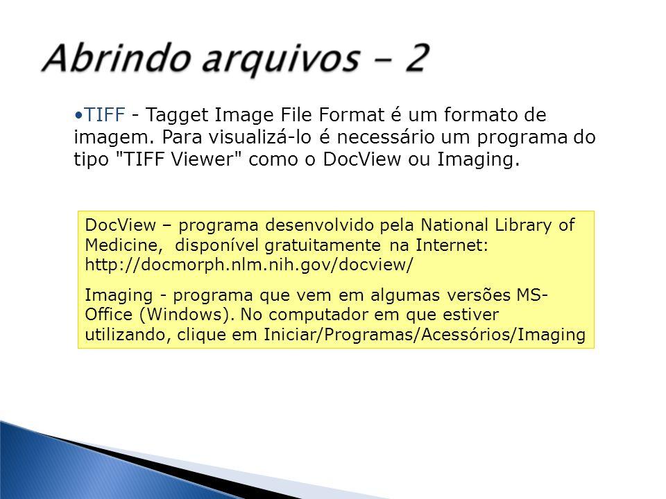 TIFF - Tagget Image File Format é um formato de imagem