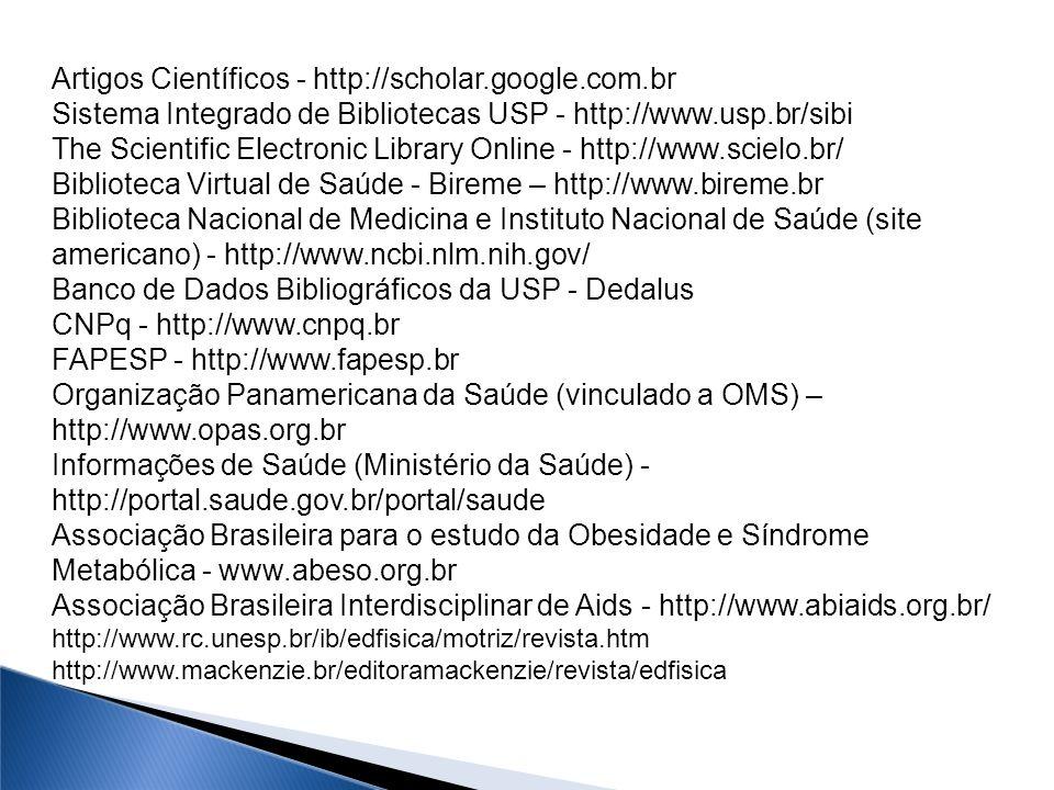 Artigos Científicos - http://scholar.google.com.br