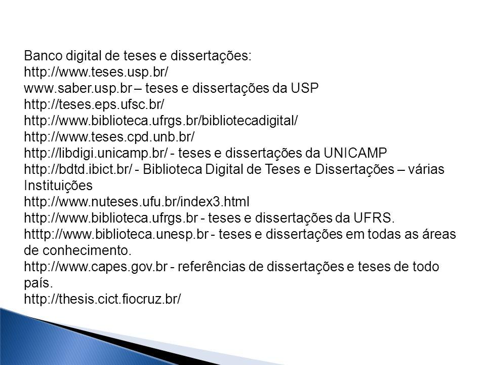 Banco digital de teses e dissertações: