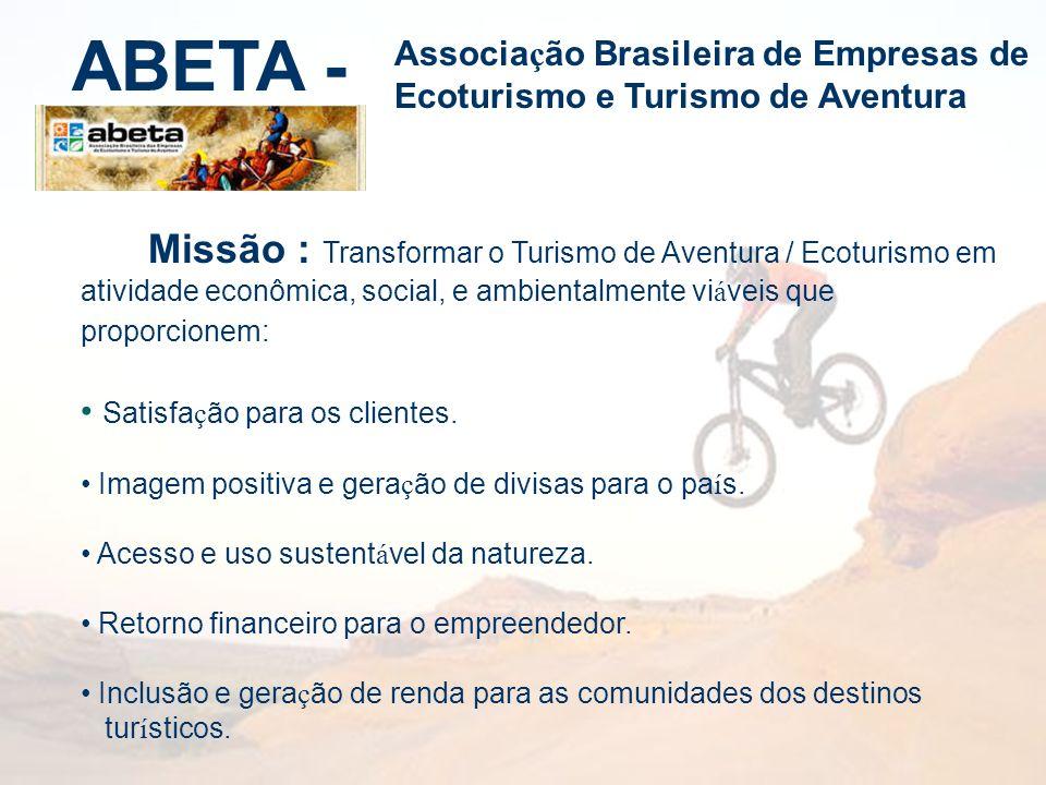 ABETA - Associação Brasileira de Empresas de Ecoturismo e Turismo de Aventura.