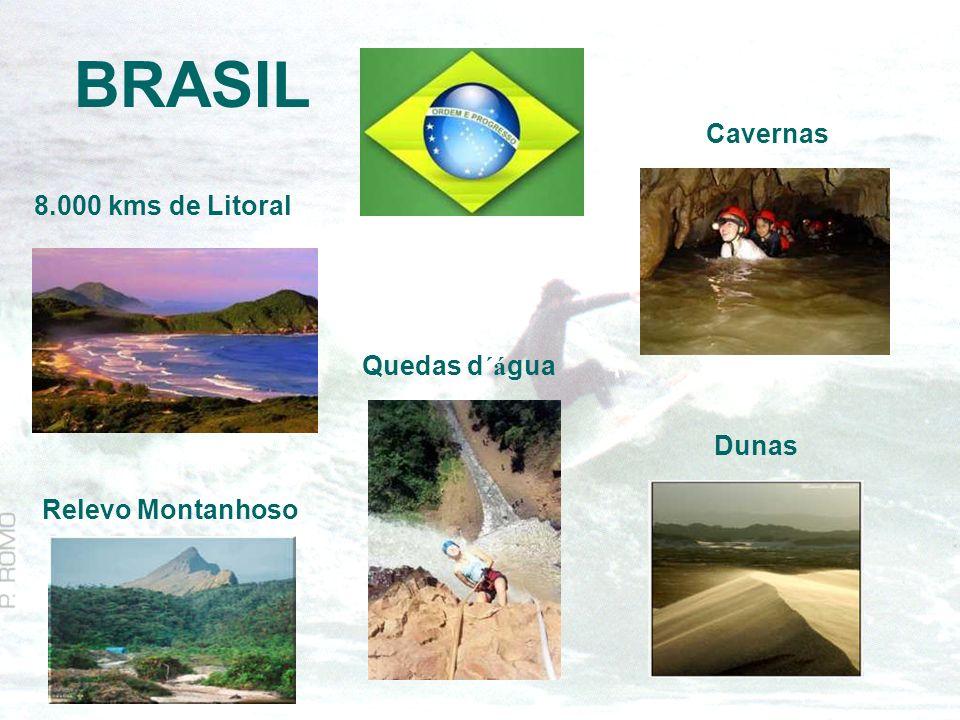 BRASIL Cavernas 8.000 kms de Litoral Quedas d´água Dunas