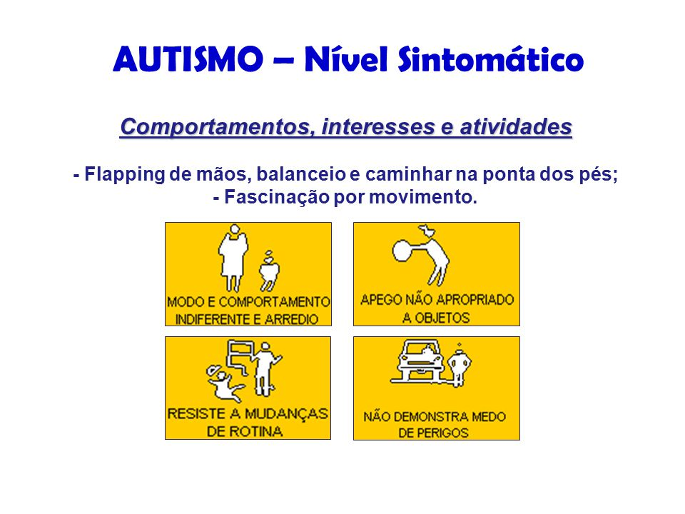 AUTISMO – Nível Sintomático