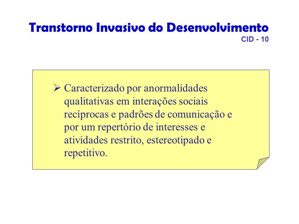 Transtorno Invasivo do Desenvolvimento CID - 10