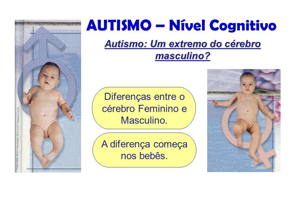 AUTISMO – Nível Cognitivo Autismo: Um extremo do cérebro masculino