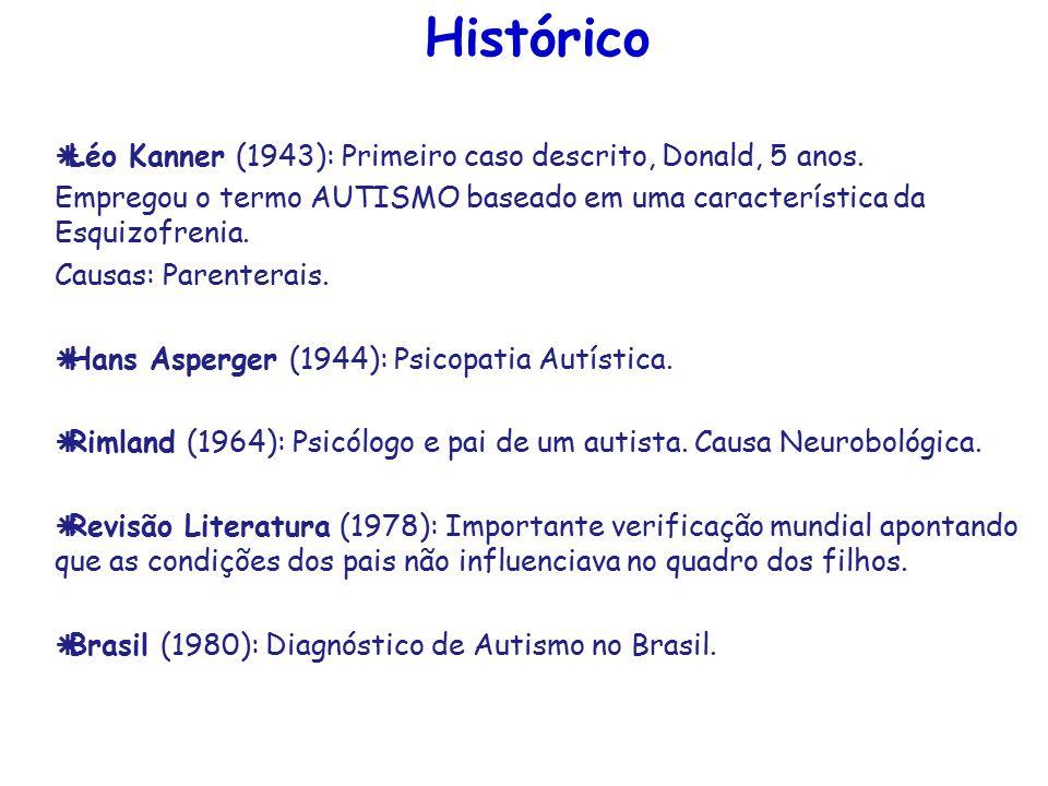 Histórico Léo Kanner (1943): Primeiro caso descrito, Donald, 5 anos.