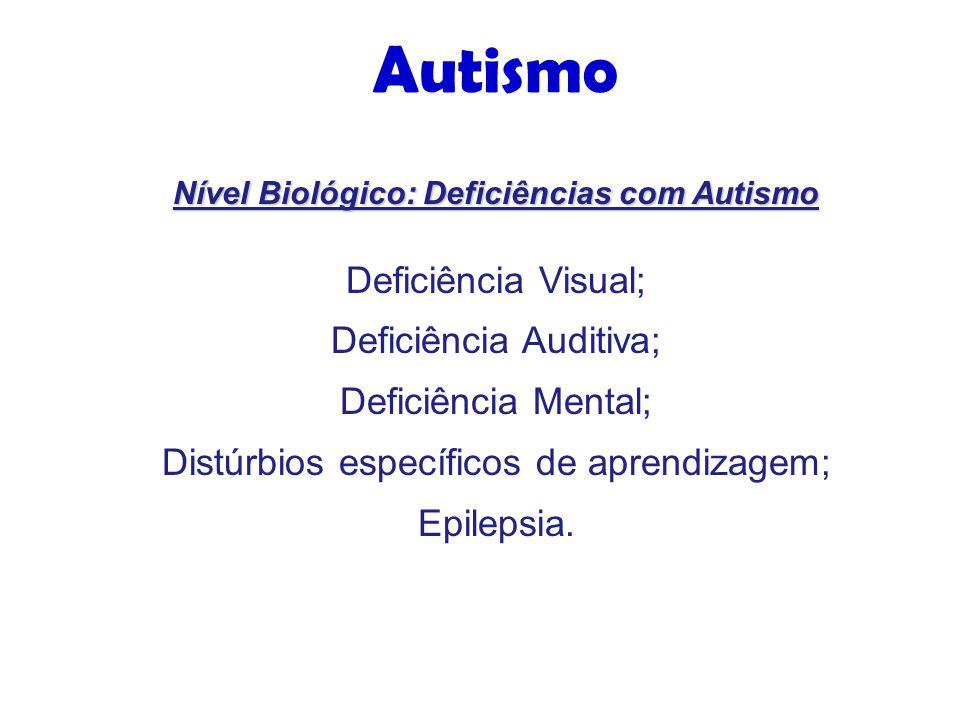 Nível Biológico: Deficiências com Autismo