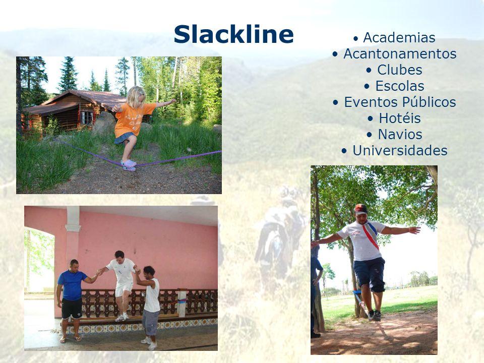 Slackline Acantonamentos Clubes Escolas Eventos Públicos Hotéis Navios